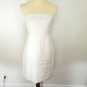 OLD NAVY NWT Womens White Linen Strapless Dress 4